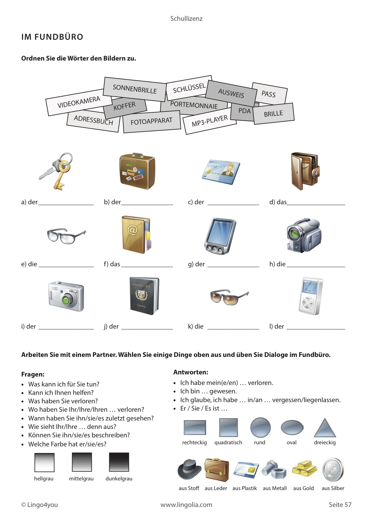 unterrichtsmaterial deutsch als fremdsprache lingolia shop. Black Bedroom Furniture Sets. Home Design Ideas