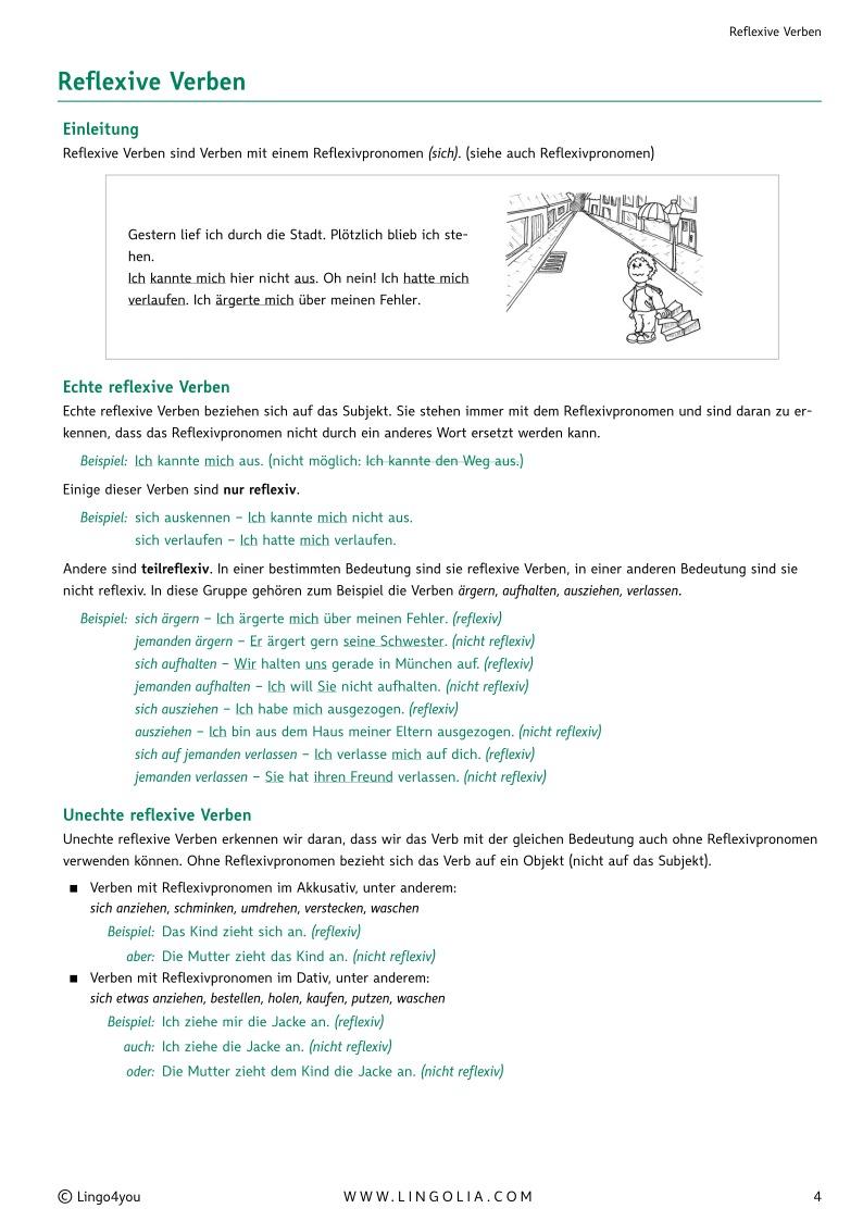 Reflexive Verben - Verben Deutsch - Lingolia Shop