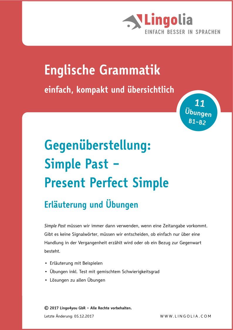Gegenüberstellung: Simple Past – Present Perfect Simple ...