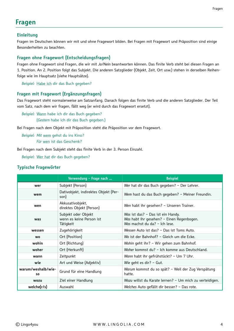 fragen - Praposition Beispiel
