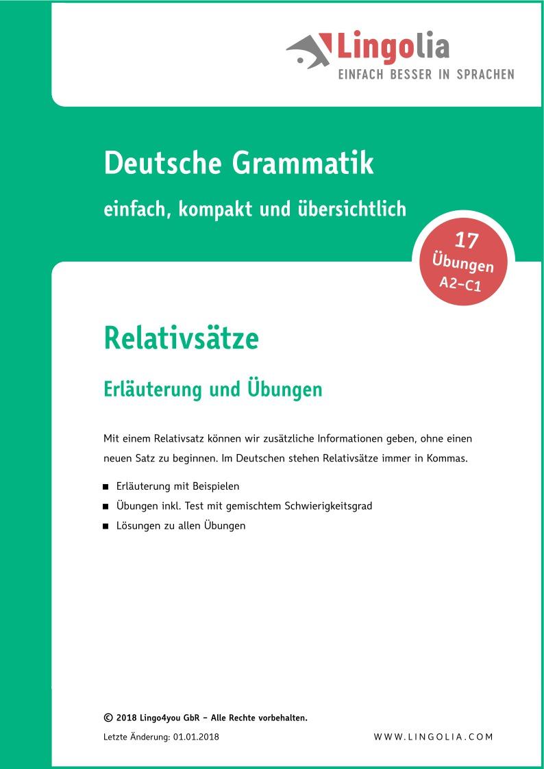 relativstze - Relativsatze Beispiele