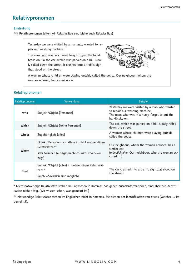 relativpronomen - Relativsatze Beispiele