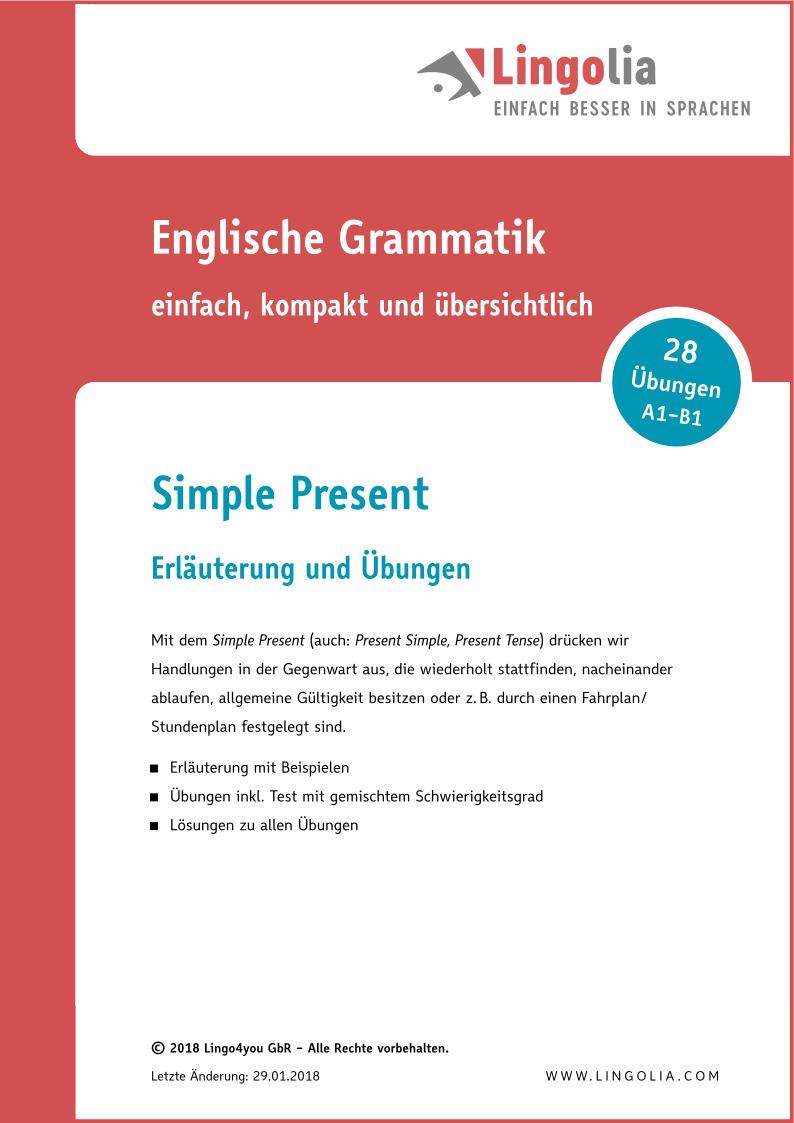 Simple Present - Zeitformen Englisch - Lingolia Shop