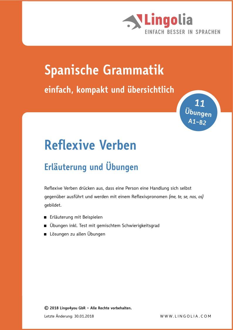 Reflexive Verben - Verben Spanisch - Lingolia Shop