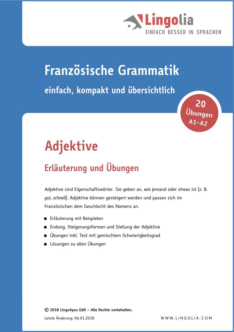 Adjektive - Adjektive & Adverbien - Lingolia Shop