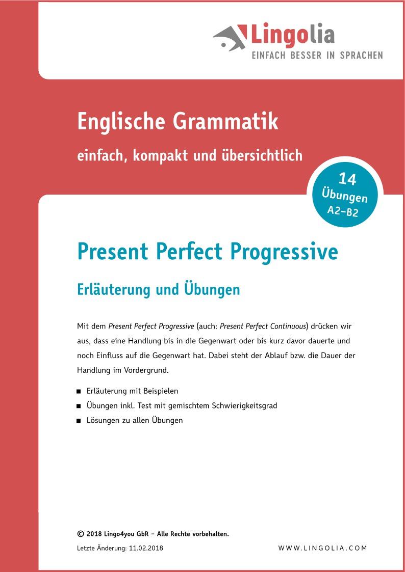 Present Perfect Progressive - Zeitformen Englisch - Lingolia Shop